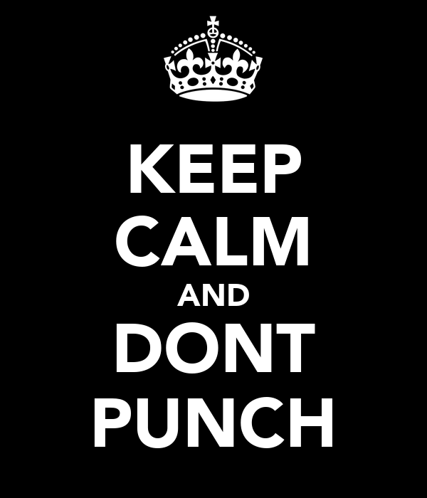 KEEP CALM AND DONT PUNCH