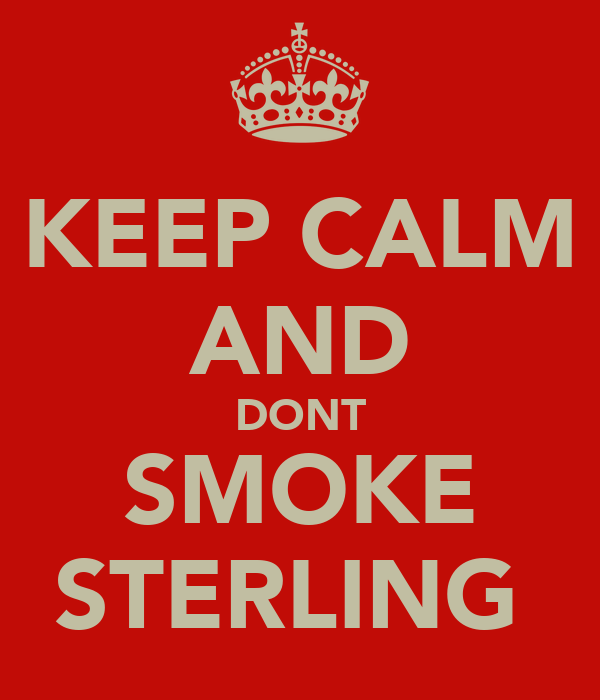 KEEP CALM AND DONT SMOKE STERLING