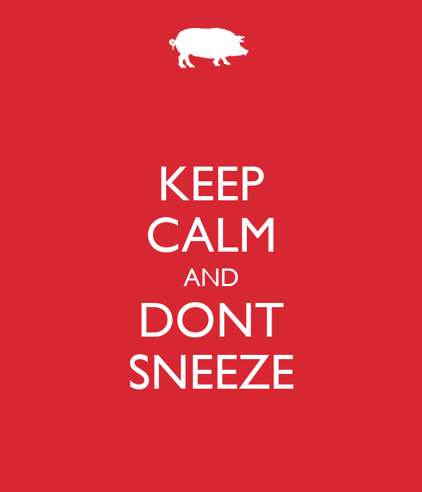KEEP CALM AND DONT SNEEZE