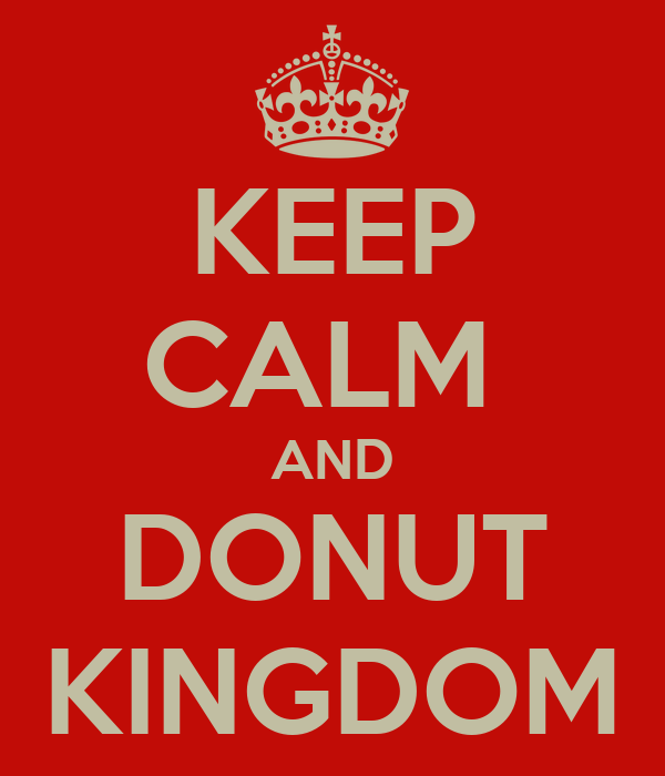 KEEP CALM  AND DONUT KINGDOM