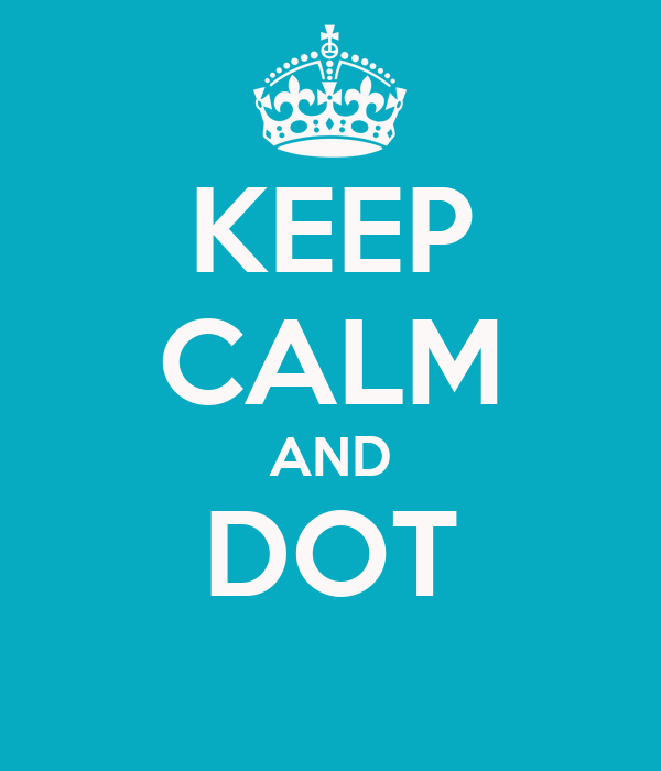 KEEP CALM AND DOT