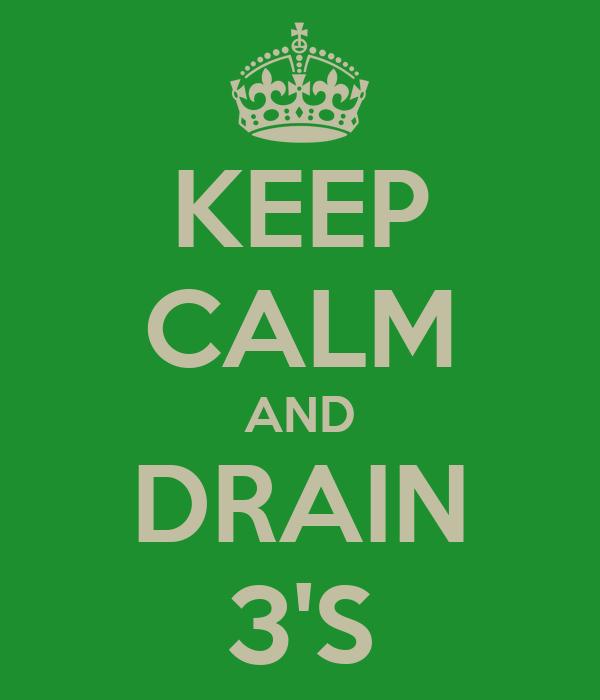 KEEP CALM AND DRAIN 3'S