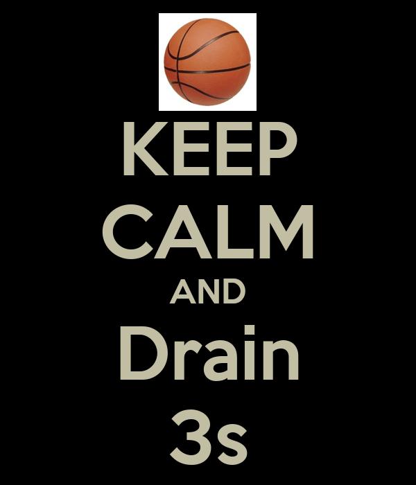KEEP CALM AND Drain 3s