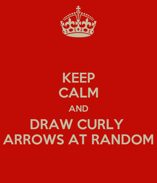 KEEP CALM AND DRAW CURLY  ARROWS AT RANDOM