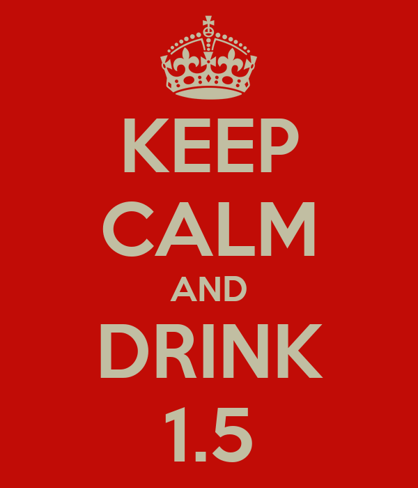 KEEP CALM AND DRINK 1.5