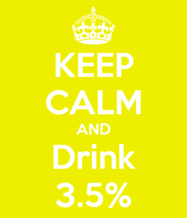 KEEP CALM AND Drink 3.5%