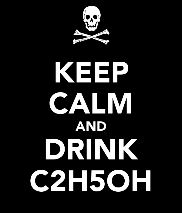 KEEP CALM AND DRINK C2H5OH