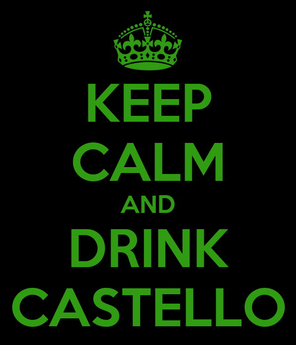KEEP CALM AND DRINK CASTELLO