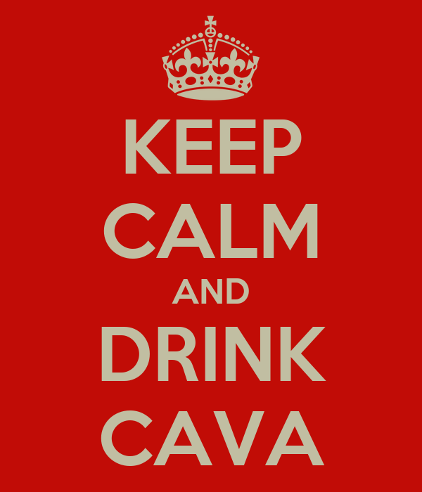 KEEP CALM AND DRINK CAVA