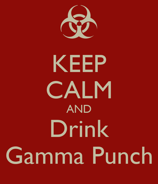 KEEP CALM AND Drink Gamma Punch