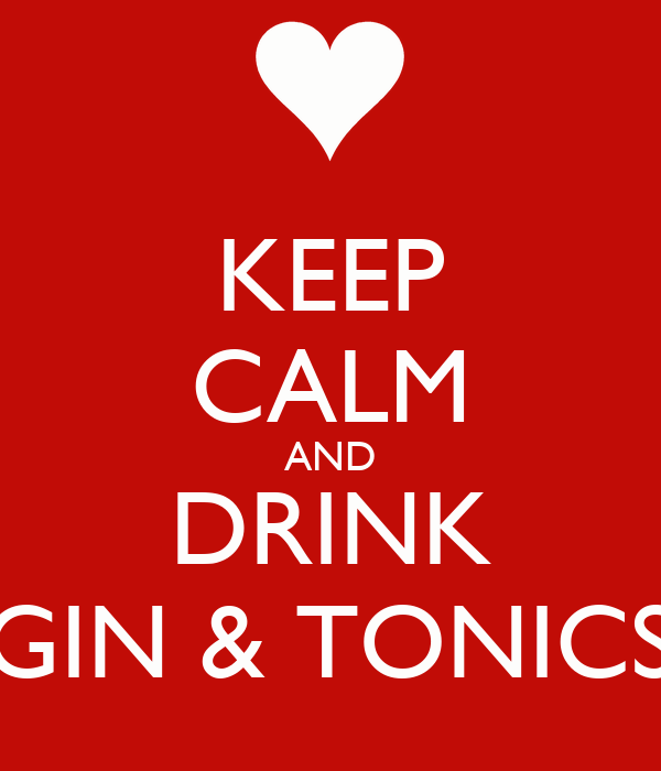 KEEP CALM AND DRINK GIN & TONICS
