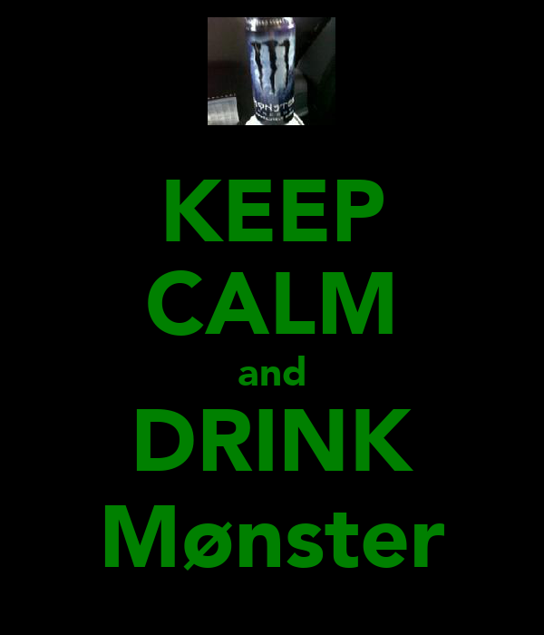KEEP CALM and DRINK Mønster