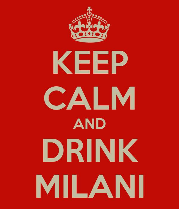 KEEP CALM AND DRINK MILANI