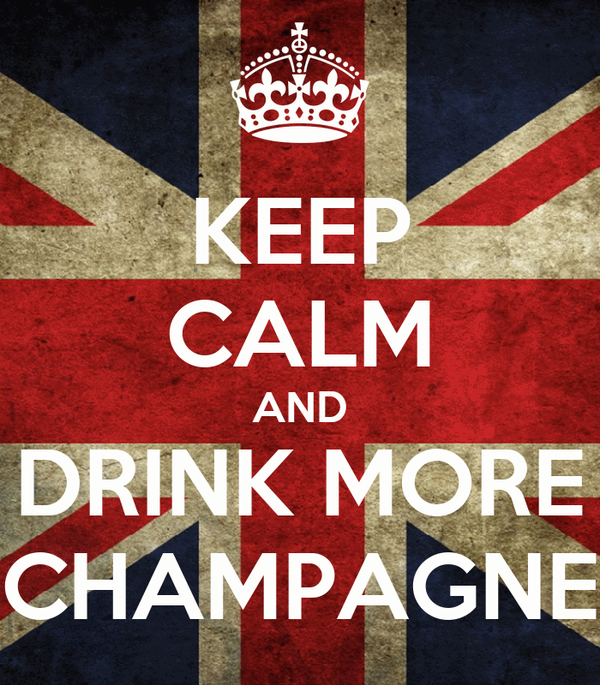 KEEP CALM AND DRINK MORE CHAMPAGNE