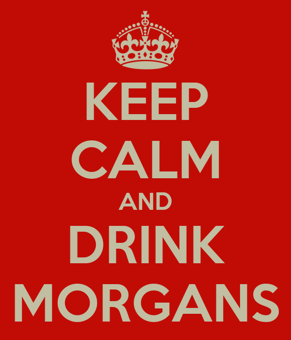 KEEP CALM AND DRINK MORGANS