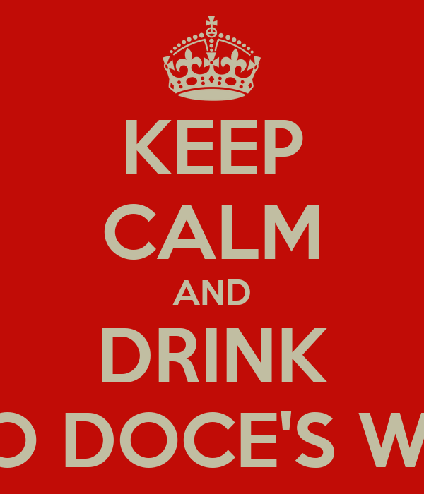 KEEP CALM AND DRINK PINGO DOCE'S WATER