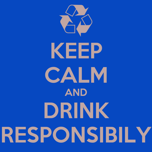 KEEP CALM AND DRINK RESPONSIBILY