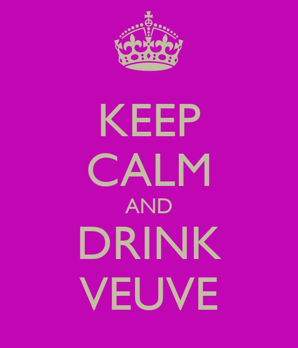 KEEP CALM AND DRINK VEUVE