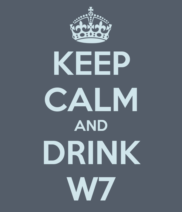 KEEP CALM AND DRINK W7