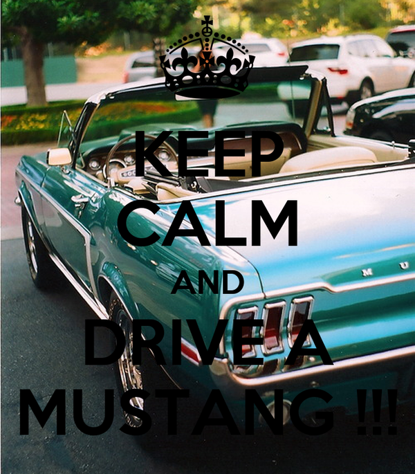Keep Calm And Drive A Mustang Poster I Keep Calm O