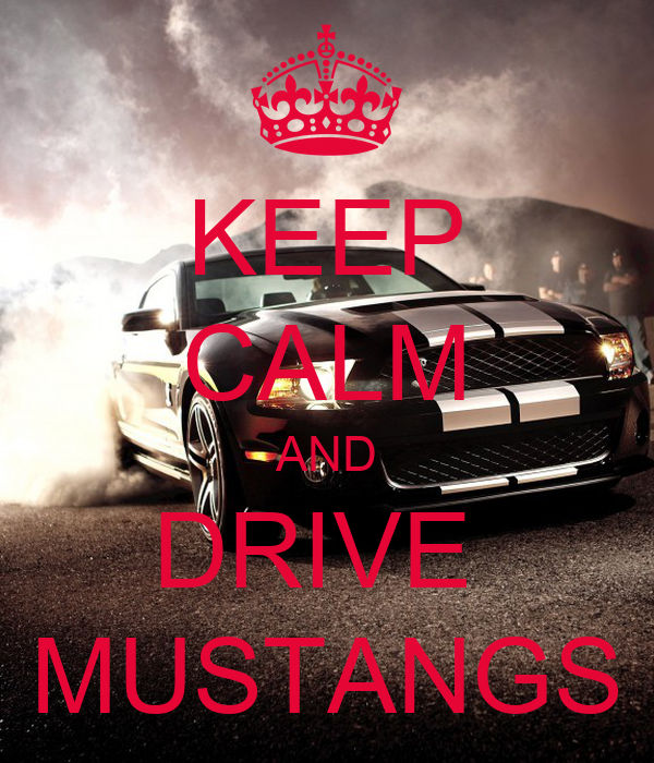 KEEP CALM AND DRIVE  MUSTANGS