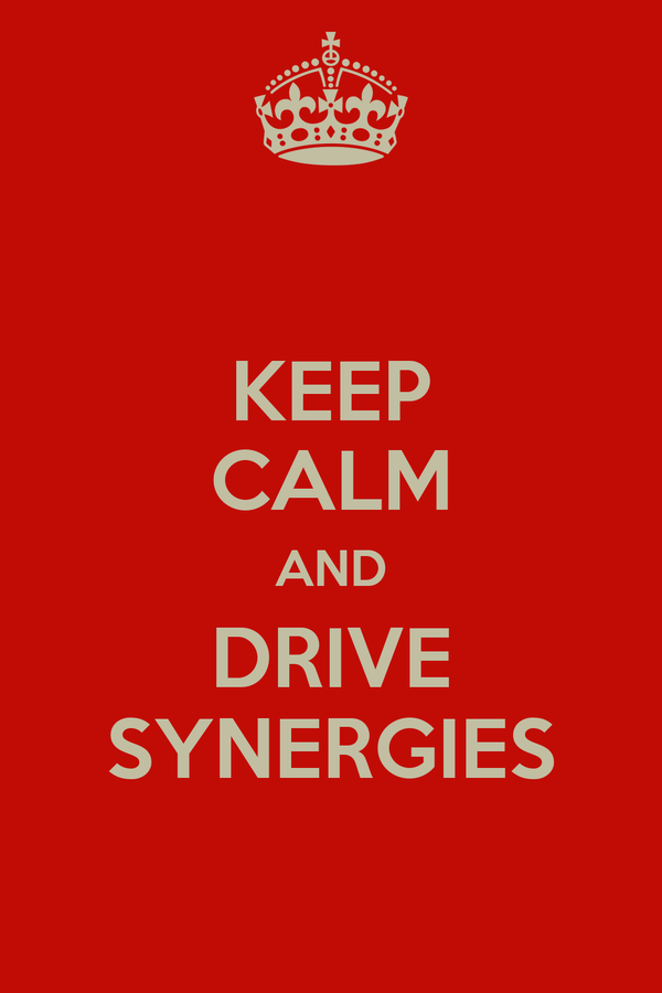 KEEP CALM AND DRIVE SYNERGIES