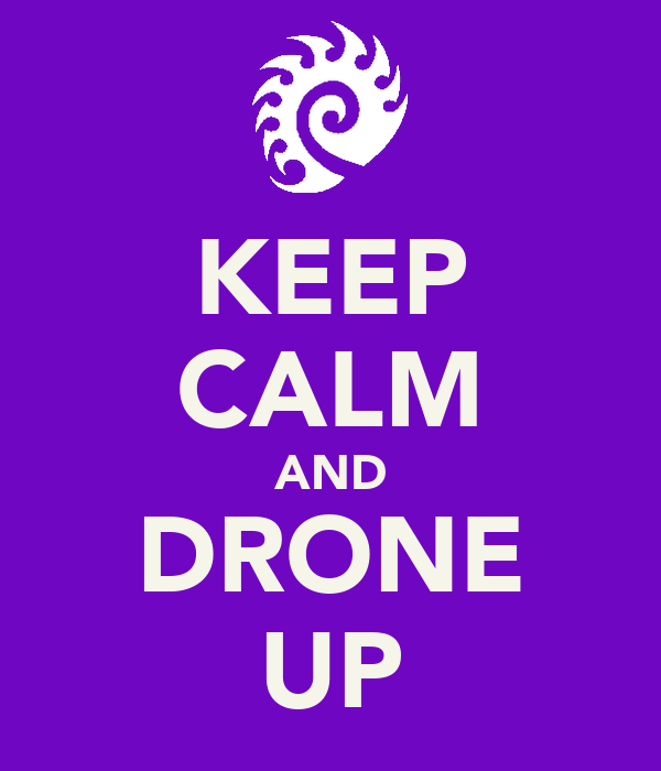 KEEP CALM AND DRONE UP