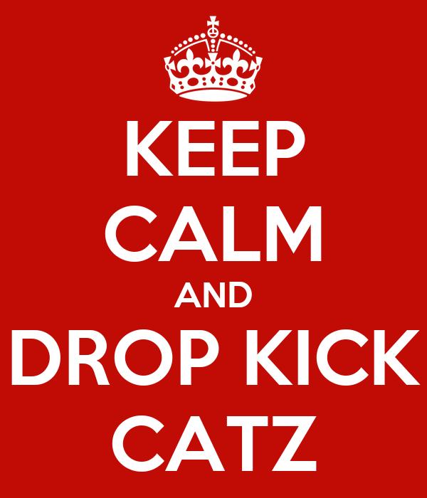 KEEP CALM AND DROP KICK CATZ