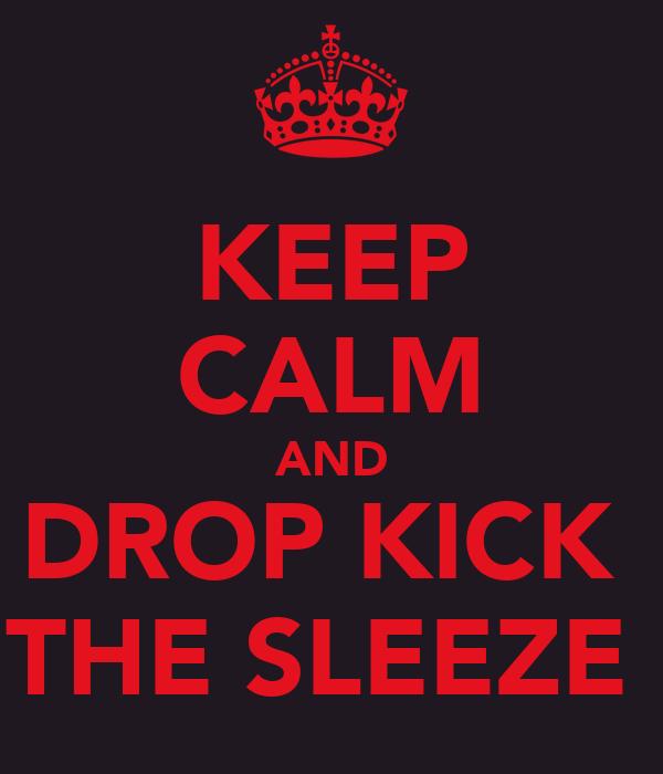KEEP CALM AND DROP KICK  THE SLEEZE