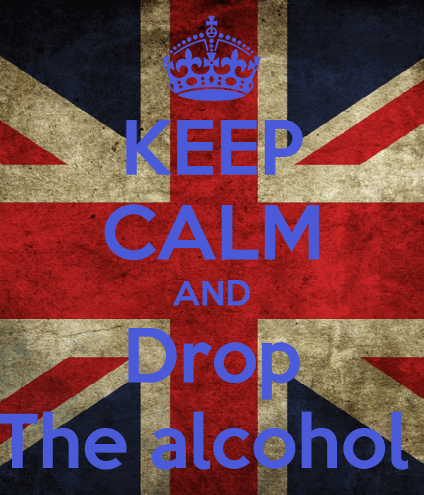 KEEP CALM AND Drop The alcohol