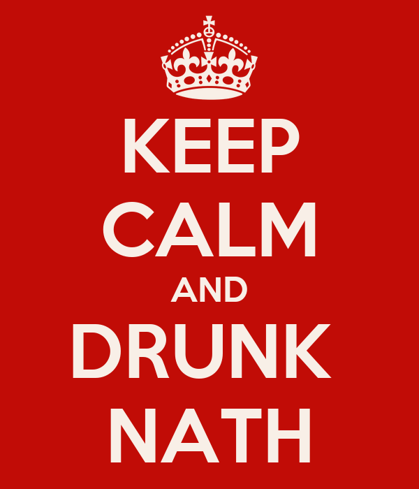 KEEP CALM AND DRUNK  NATH