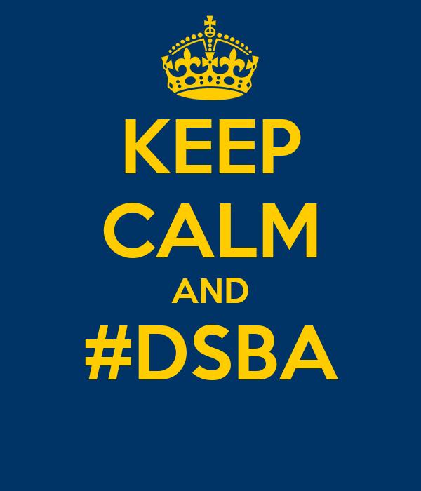 KEEP CALM AND #DSBA