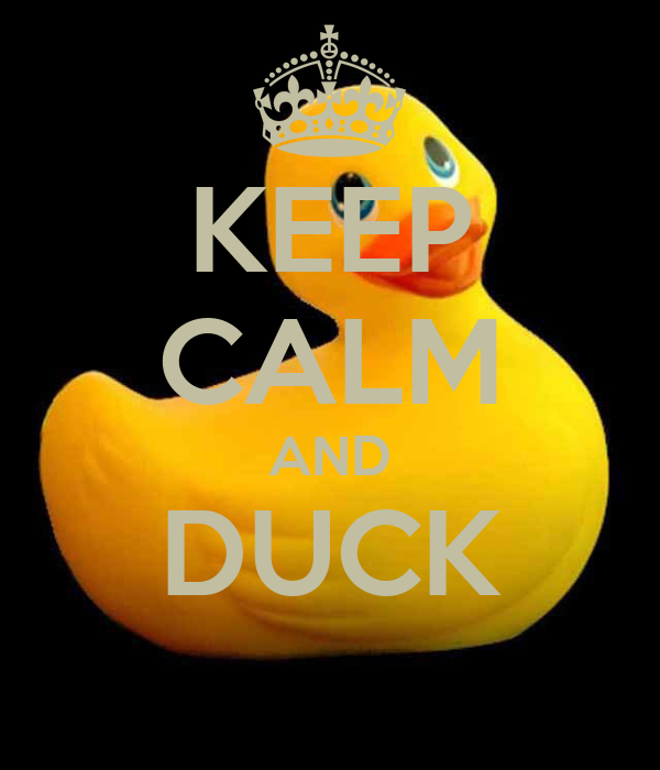KEEP CALM AND DUCK