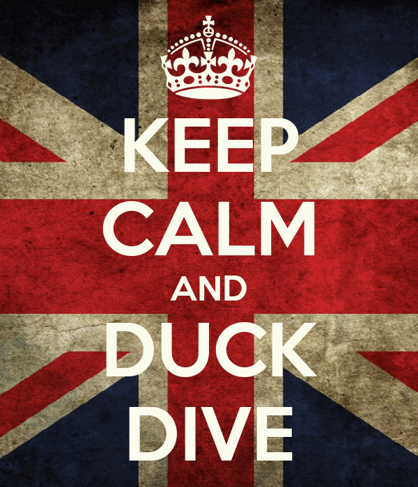 KEEP CALM AND DUCK DIVE