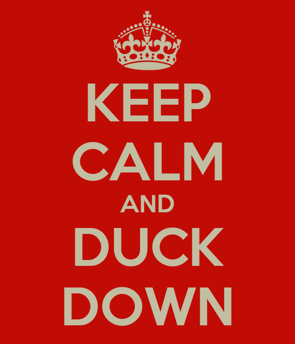 KEEP CALM AND DUCK DOWN