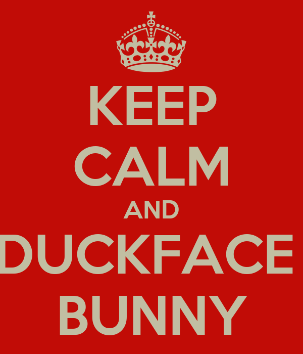 KEEP CALM AND DUCKFACE  BUNNY