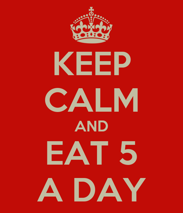 KEEP CALM AND EAT 5 A DAY