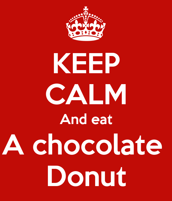 KEEP CALM And eat A chocolate  Donut