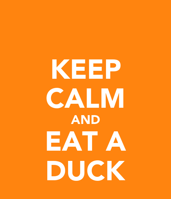 KEEP CALM AND EAT A DUCK