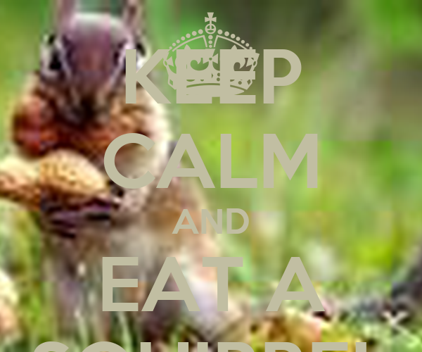 KEEP CALM AND EAT A SQUIRREL