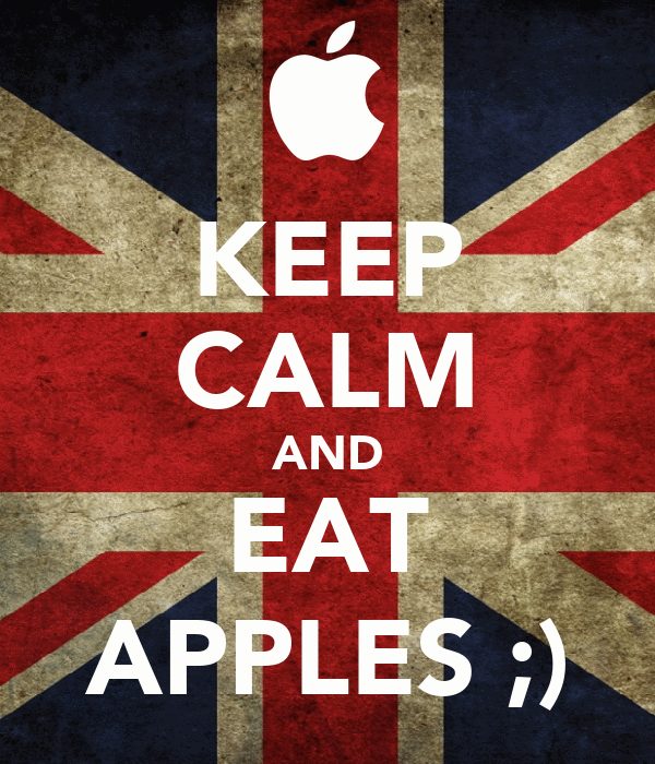 KEEP CALM AND EAT APPLES ;)