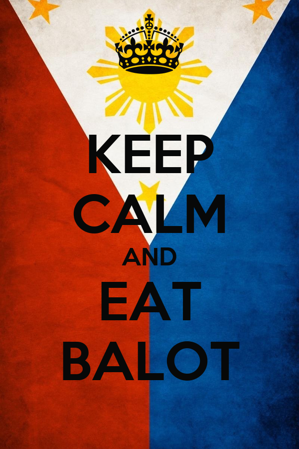 KEEP CALM AND EAT BALOT