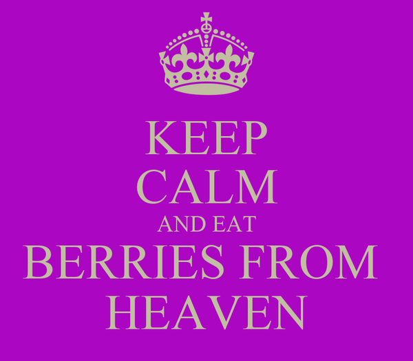 KEEP CALM AND EAT BERRIES FROM  HEAVEN
