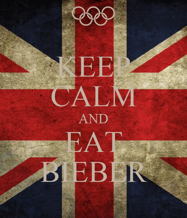 KEEP CALM AND EAT BIEBER