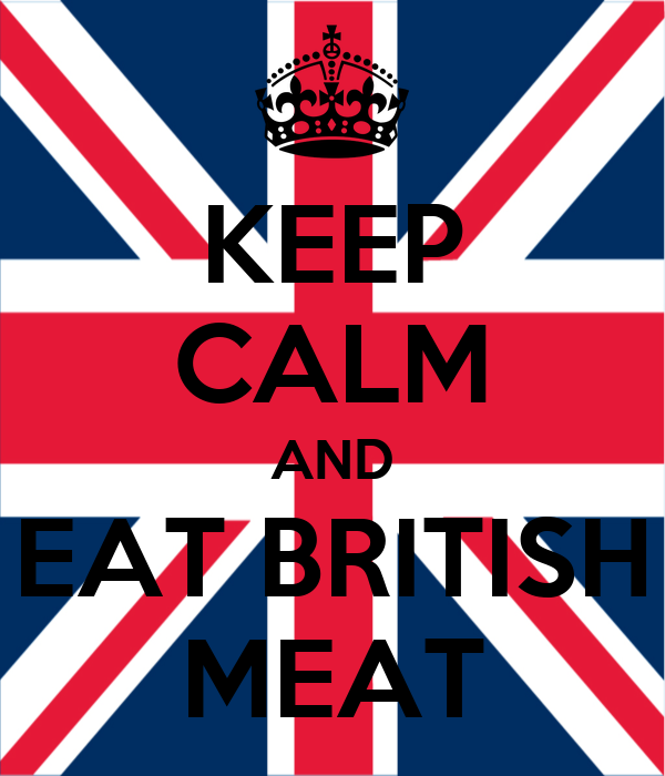KEEP CALM AND EAT BRITISH MEAT