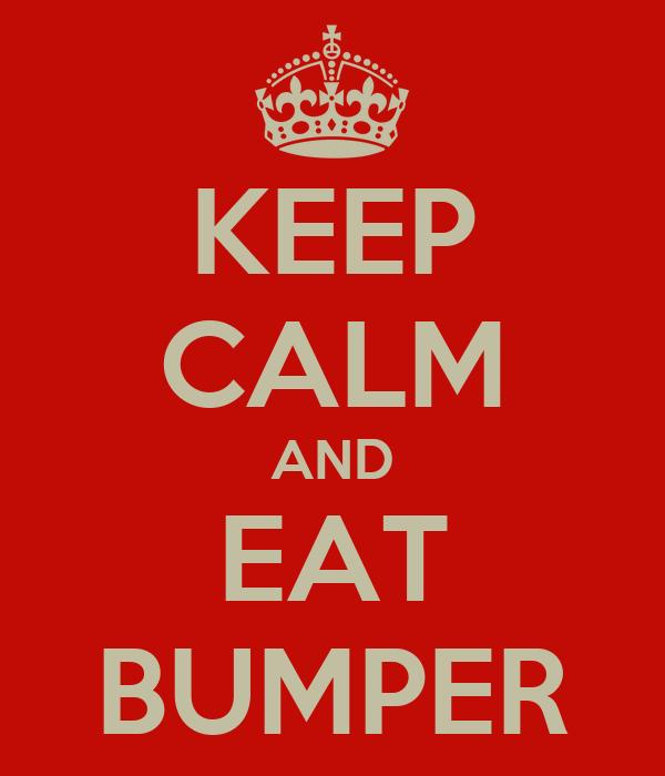 KEEP CALM AND EAT BUMPER