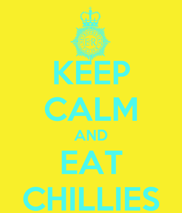 KEEP CALM AND EAT CHILLIES