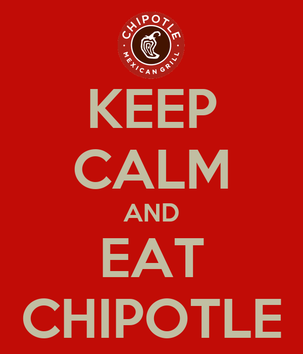 KEEP CALM AND EAT CHIPOTLE