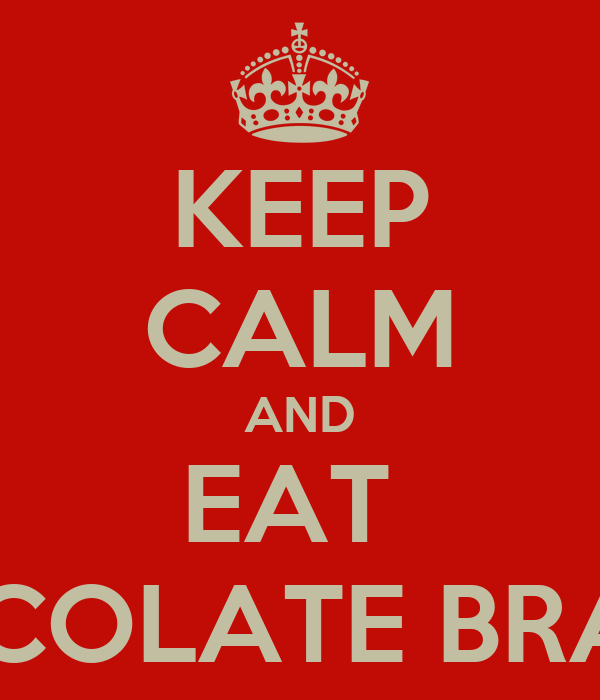 KEEP CALM AND EAT  CHOCOLATE BRAZILS