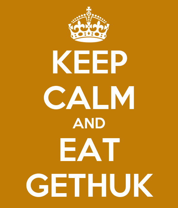 KEEP CALM AND EAT GETHUK
